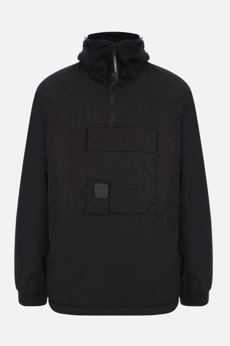 CP COMPANY: logo-detailed anorak in Chrome-R Color Black_1