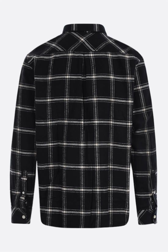 BARBOUR MADE FOR JAPAN: Raven check flannel shirt Color Black_2