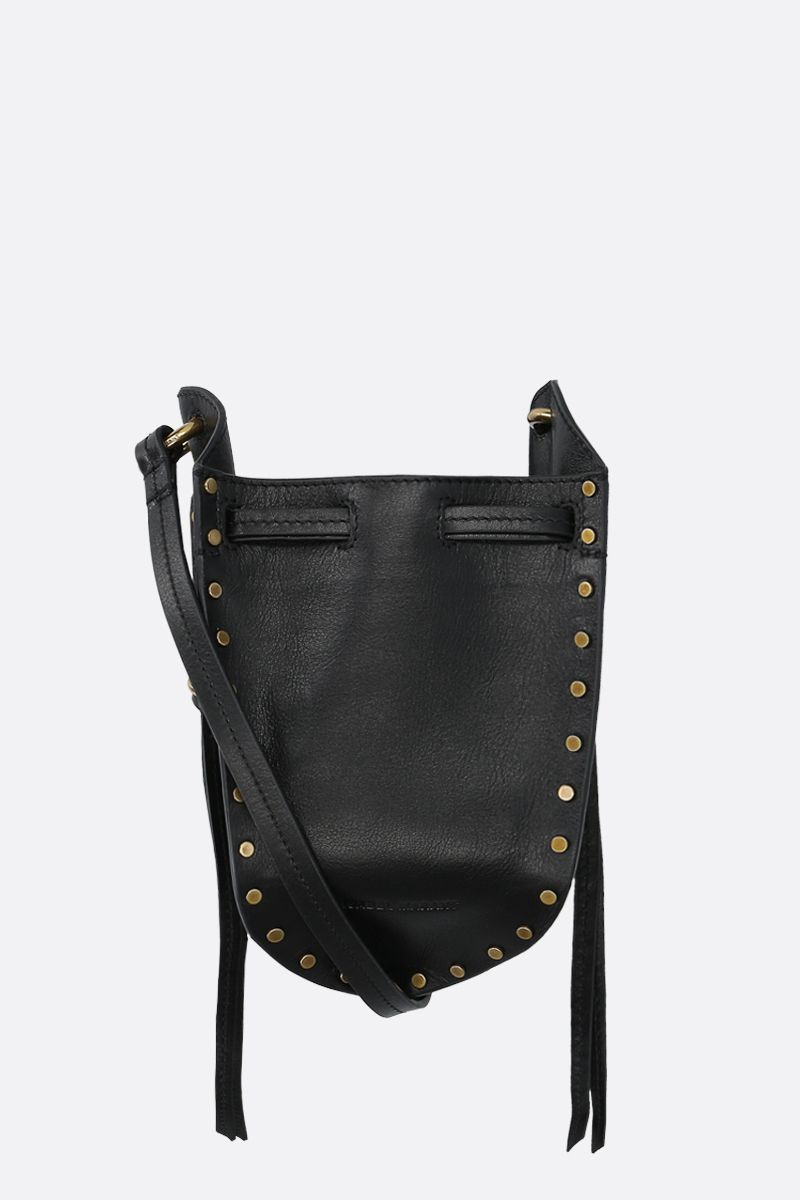 ISABEL MARANT: Radji studded leather shoulder bag Color Black_1