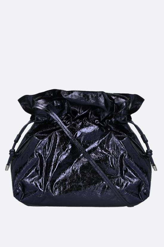 ISABEL MARANT: Ailey laminated leather shoulder bag Color Black_1