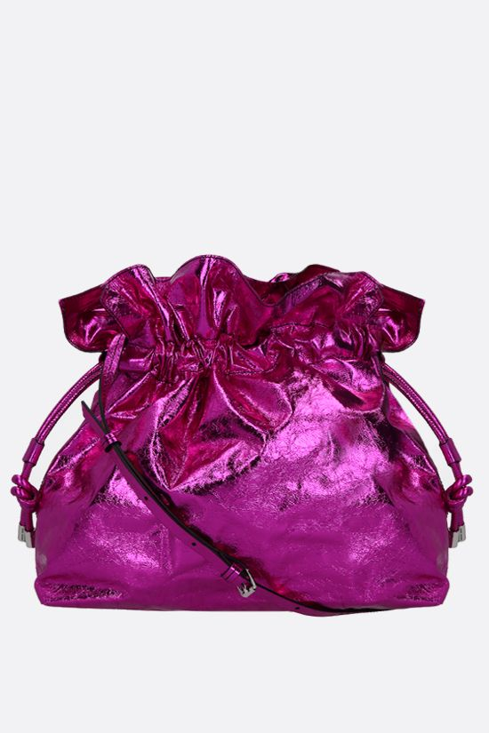 ISABEL MARANT: Ailey laminated leather shoulder bag Color Pink_1