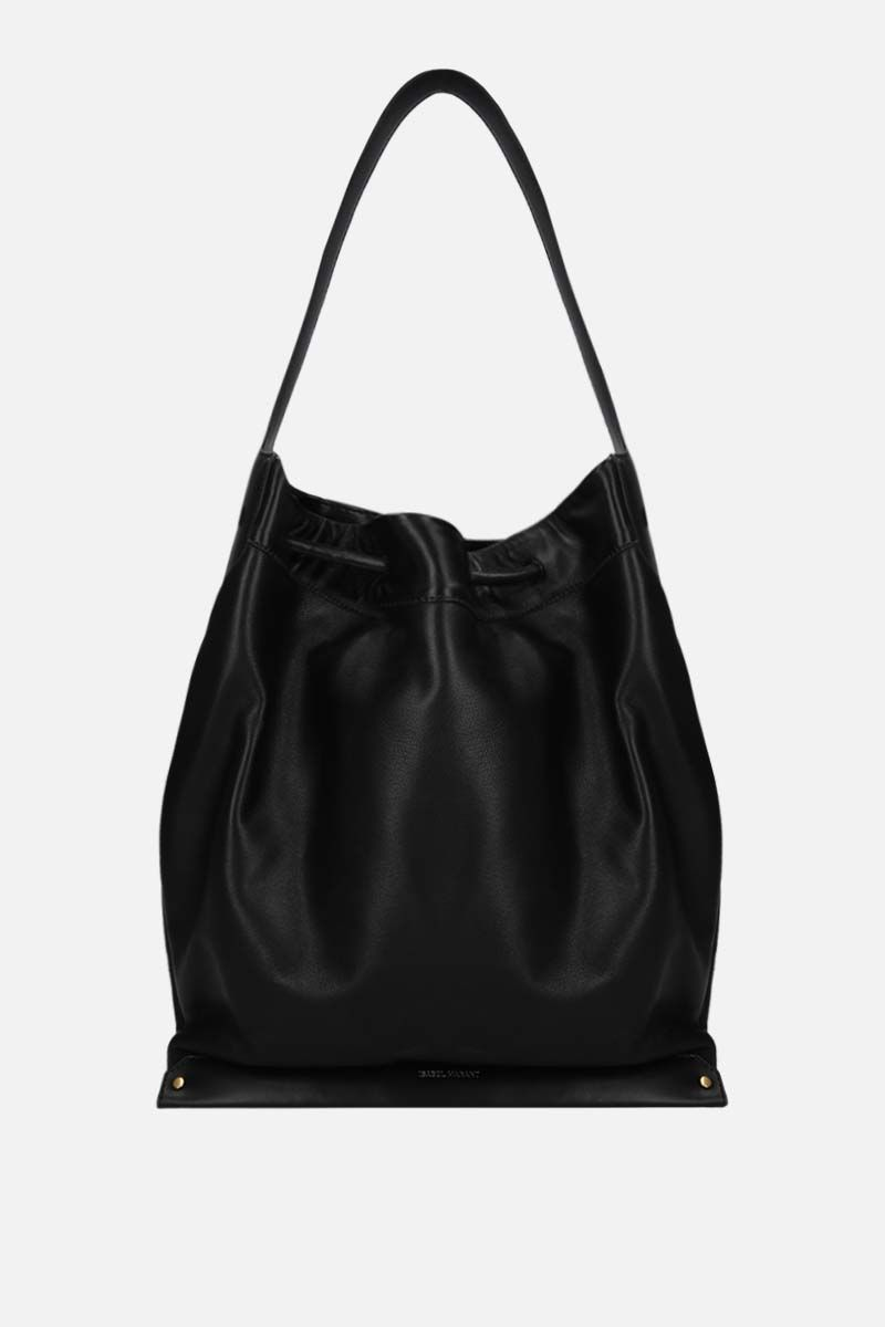 ISABEL MARANT: Sanky soft leather shoulder bag Color Black_1