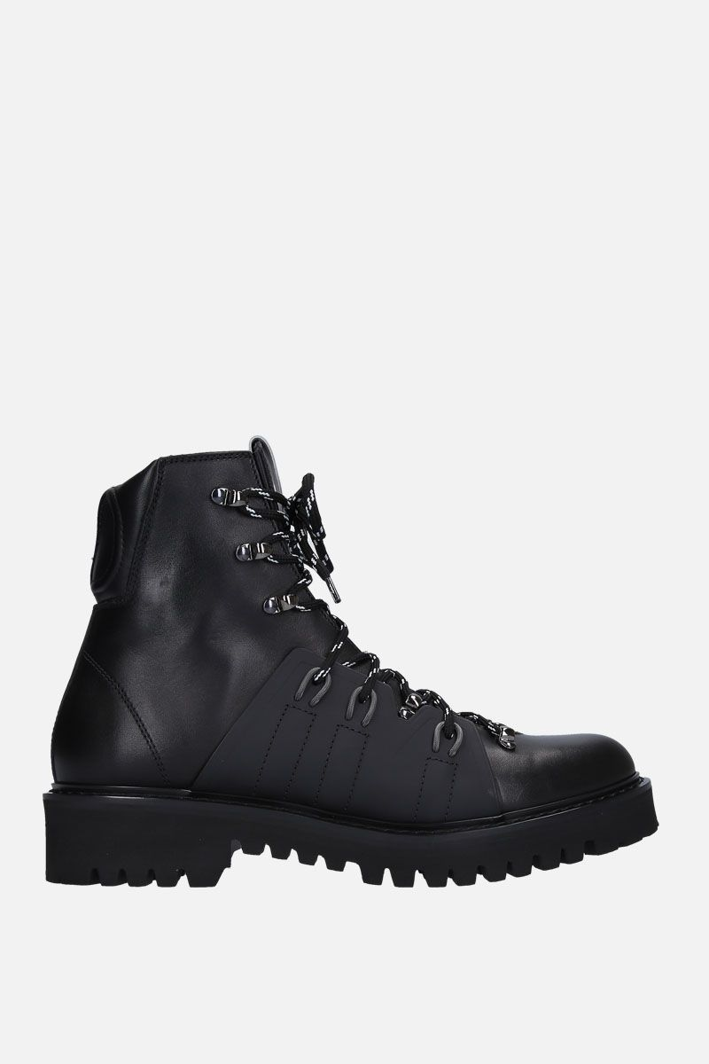 VALENTINO GARAVANI: VLOGO hiking boots in smooth leather Color Black_1