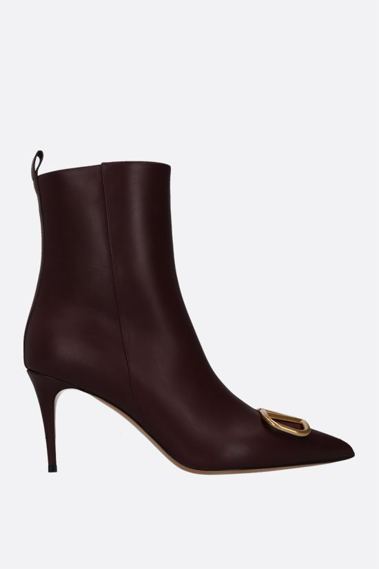 VALENTINO GARAVANI: VLOGO smooth leather ankle boots Color Red_1