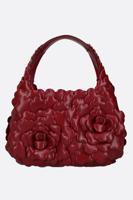 VALENTINO GARAVANI: Atelier Bag 03 Rose Edition small smooth leather hobo bag Color Red_1