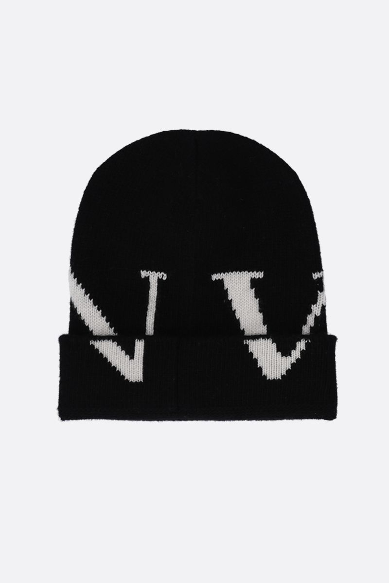 VALENTINO GARAVANI: VLTN knit beanie Color Black_2