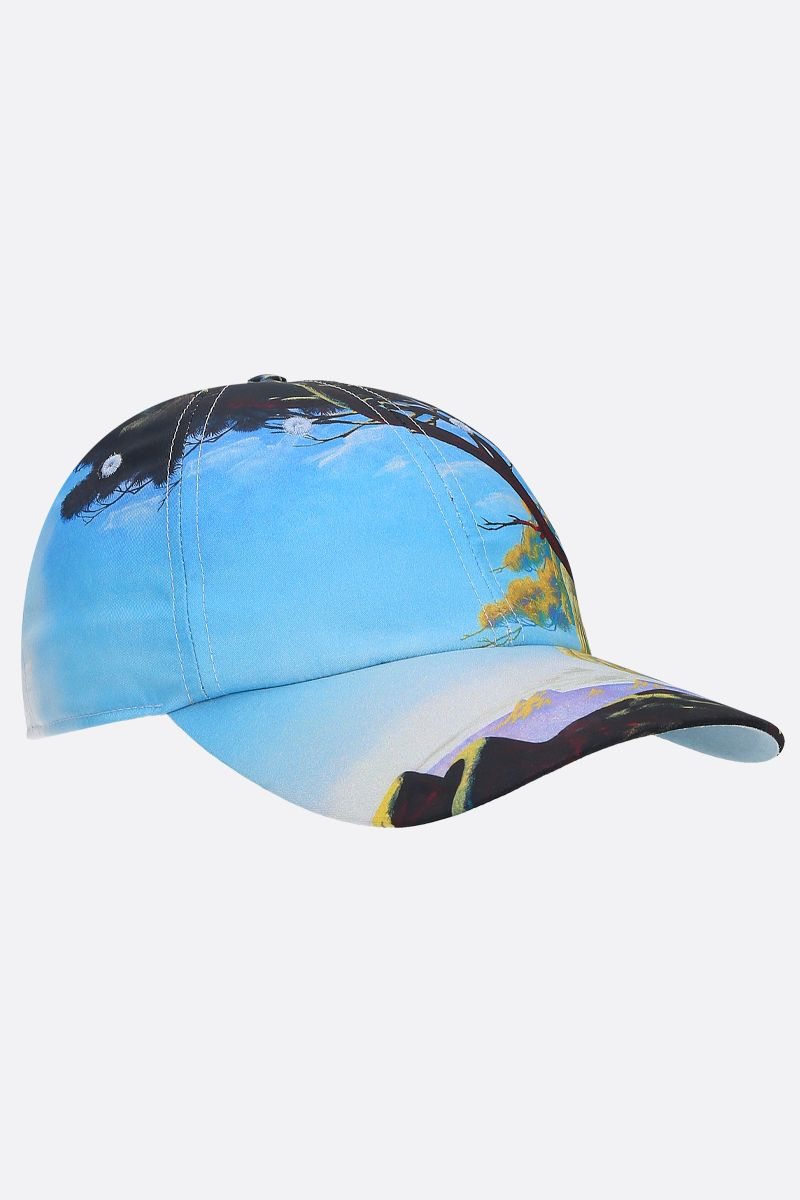 VALENTINO GARAVANI: cappello baseball in nylon stampa Floating Island Colore Multicolore_2