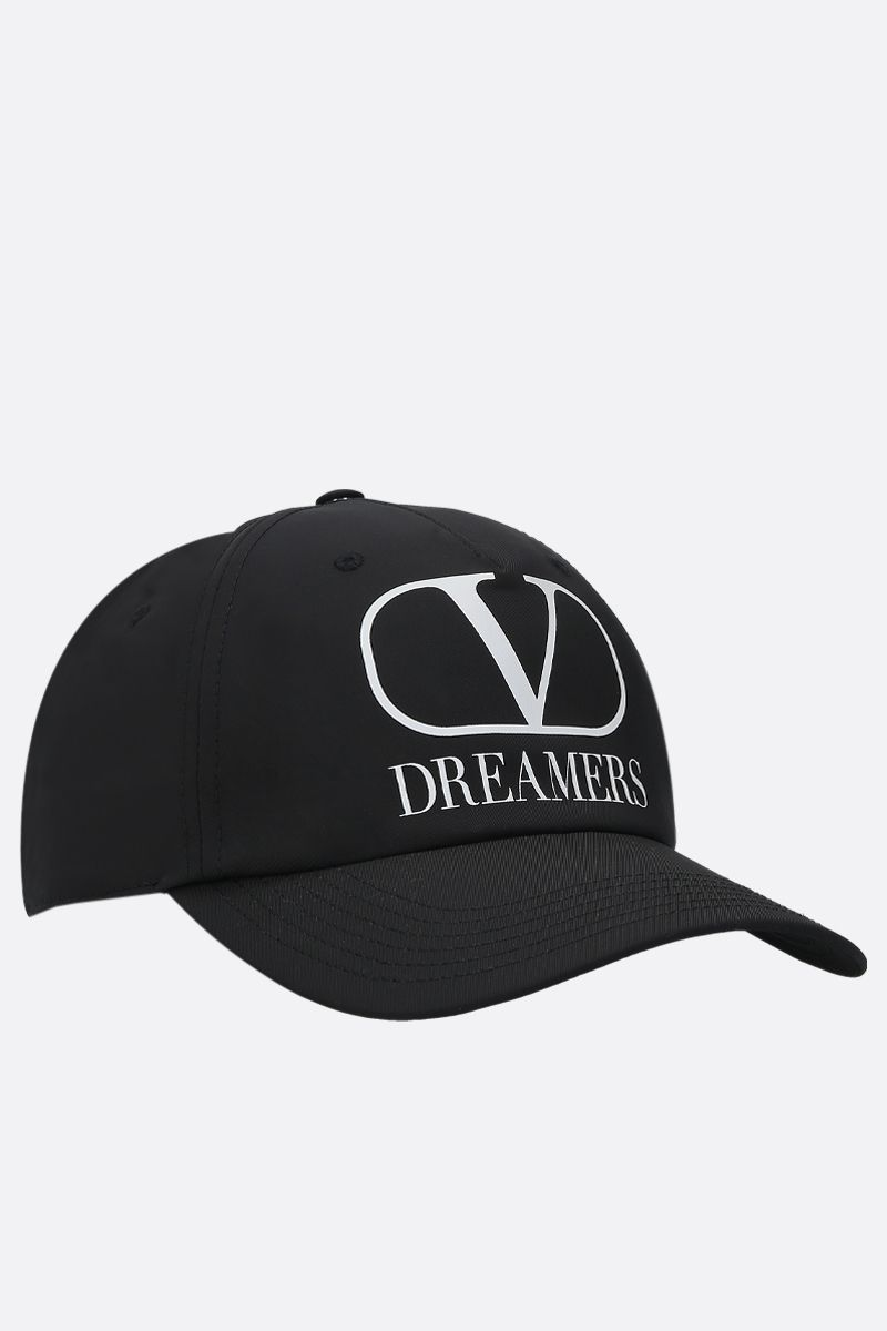 VALENTINO GARAVANI: VLOGO Dreamers nylon baseball cap Color Black_2