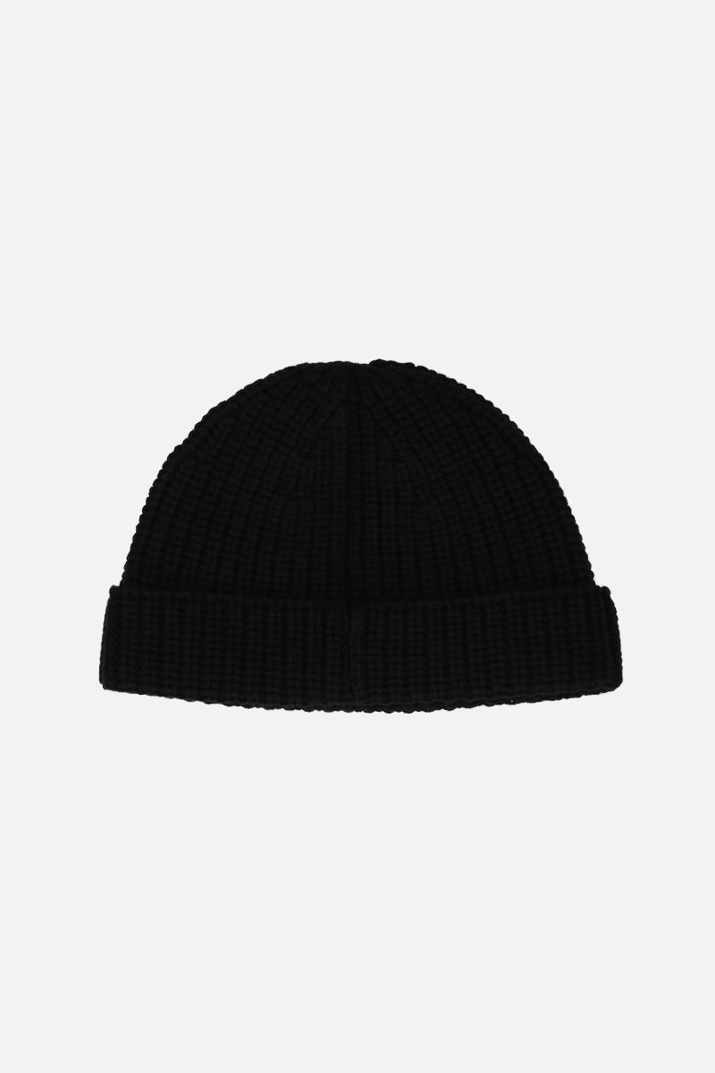 VALENTINO GARAVANI: VLTN wool knit beanie Color Black_2