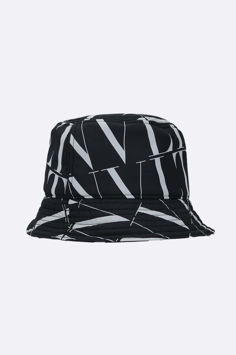 VALENTINO GARAVANI: VLTN TIMES nylon bucket hat Color Black_2