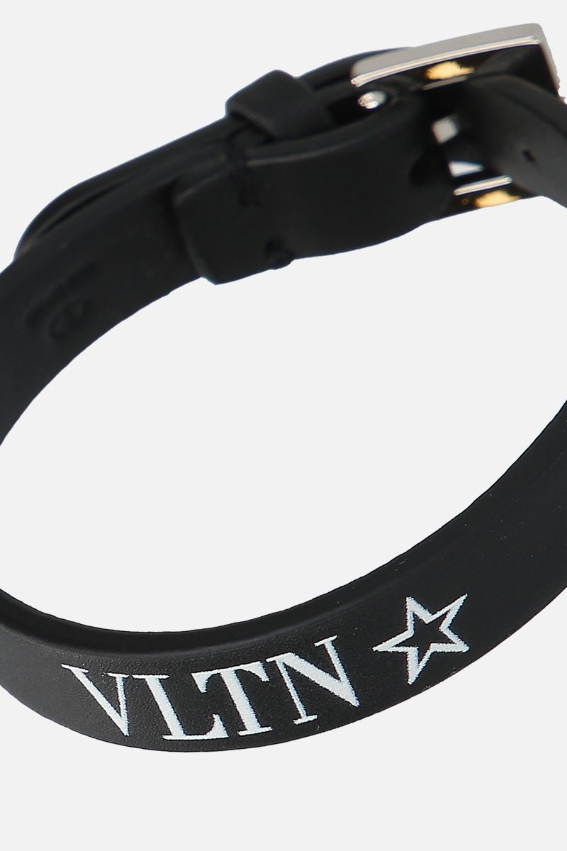 VALENTINO GARAVANI: VLTNSTAR bracelet in smooth leather Color Black_2
