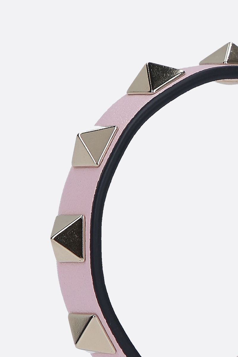 VALENTINO GARAVANI: Rockstud smooth leather bracelet_2