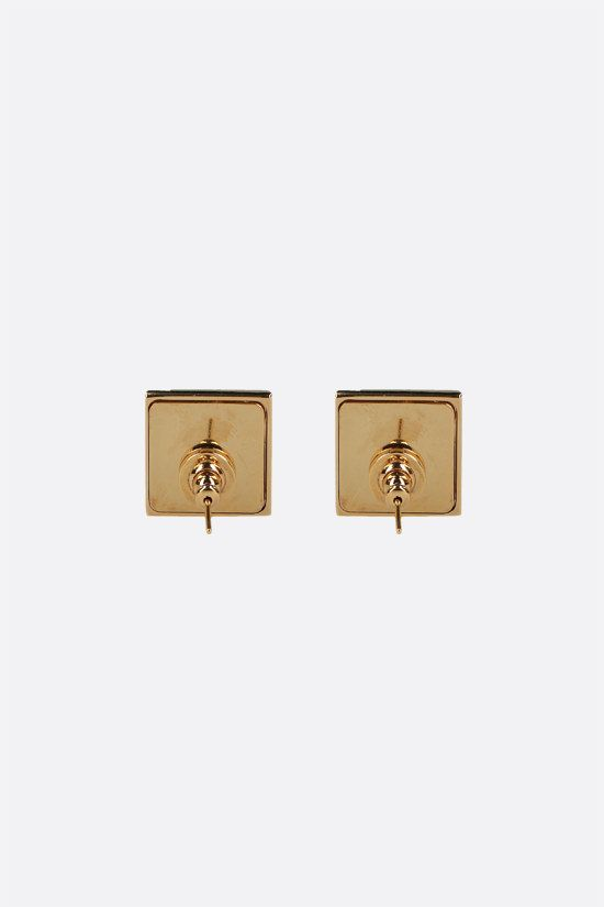 VALENTINO GARAVANI: Roman Stud metal earrings Color Gold_2