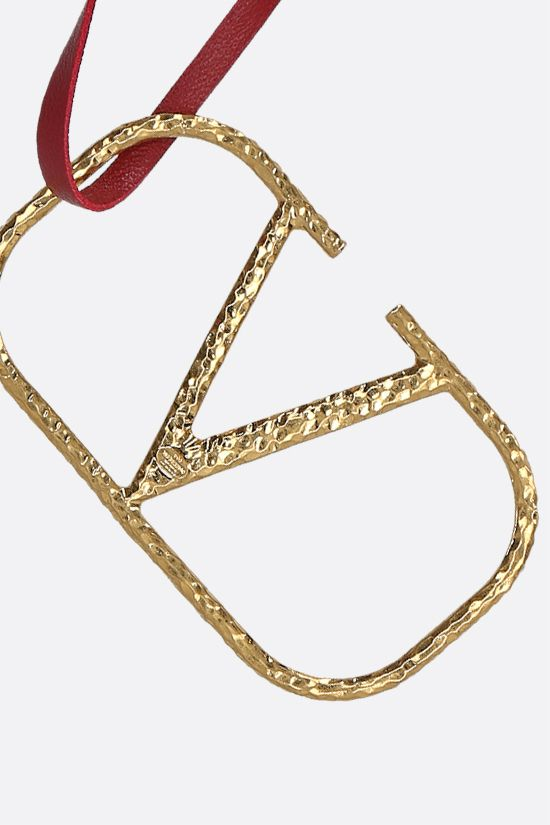 VALENTINO GARAVANI: VLOGO Signature nappa and metal necklace Color Red_2