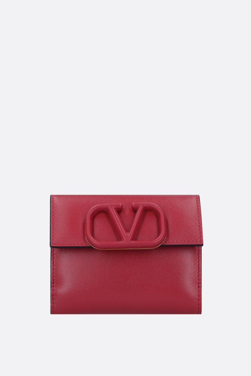 VALENTINO GARAVANI: VSLING flap wallet in smooth leather_1