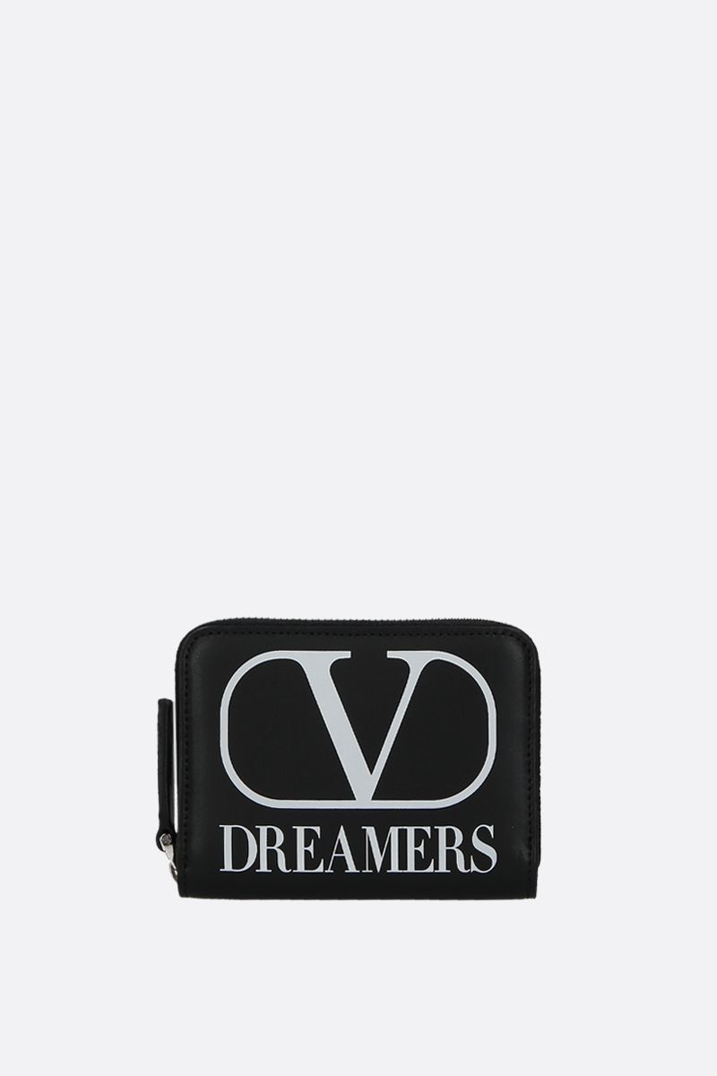 VALENTINO GARAVANI: VLOGO DREAMERS smooth leather neck wallet Color Black_1