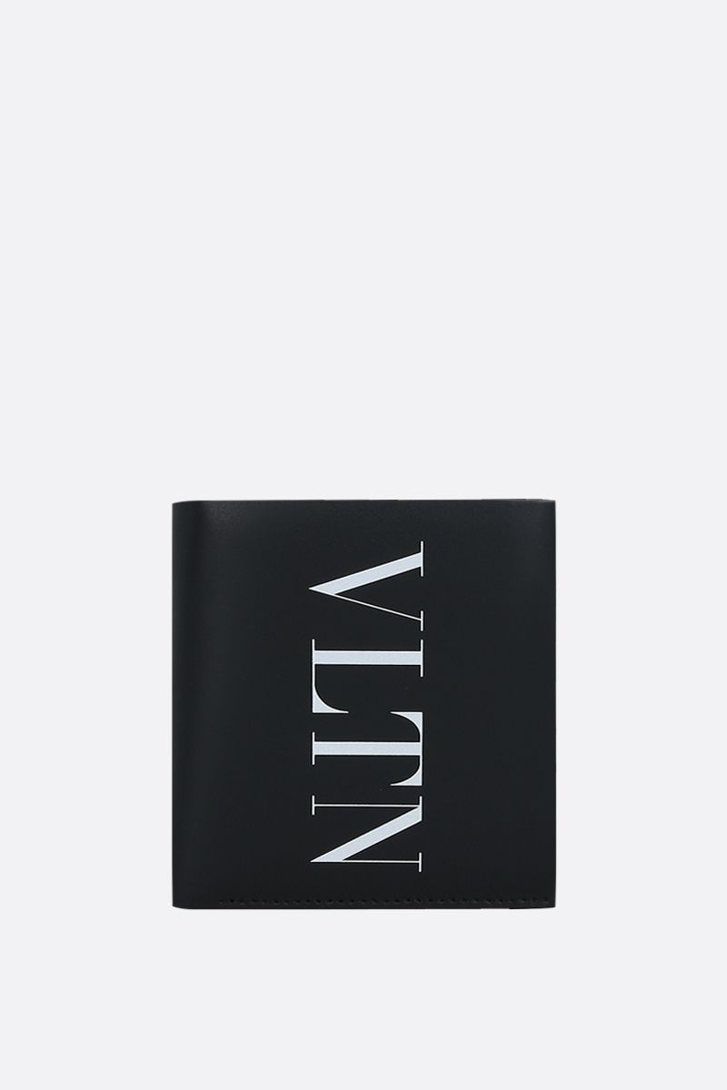 VALENTINO GARAVANI: VLTN smooth leather billfold wallet Color Black_1