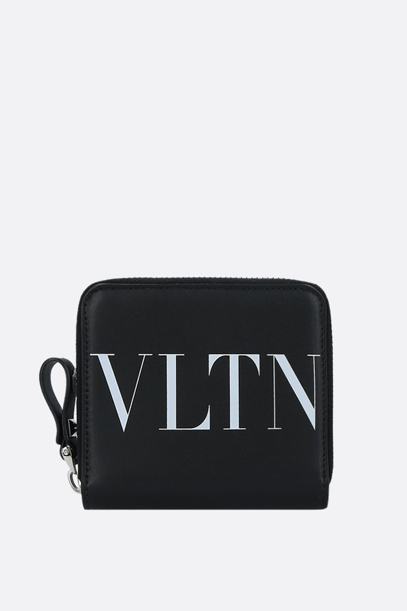 VALENTINO GARAVANI: VLTN smooth leather zip-around wallet Color Black_1