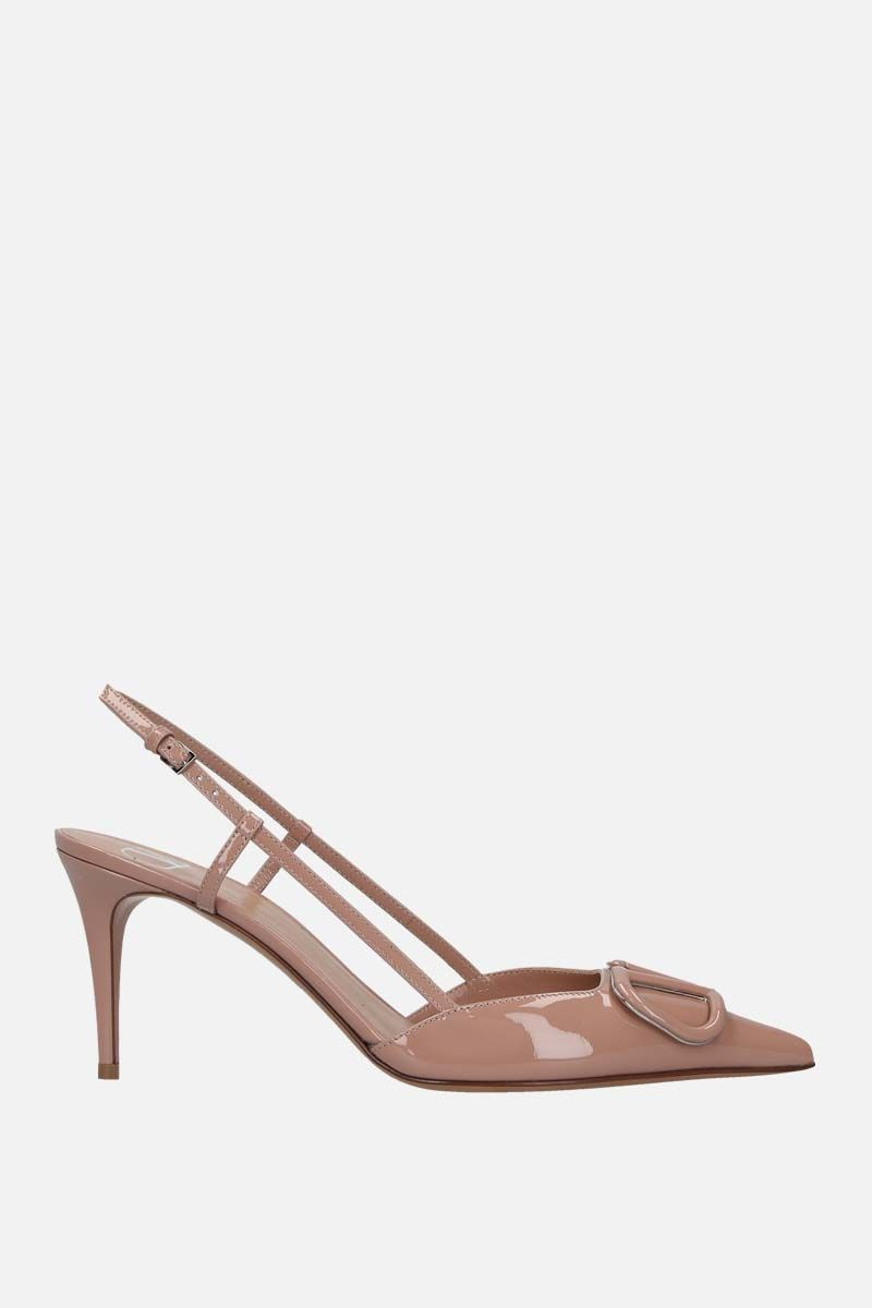 VALENTINO GARAVANI: VLOGO patent leather slingbacks Color Pink_1