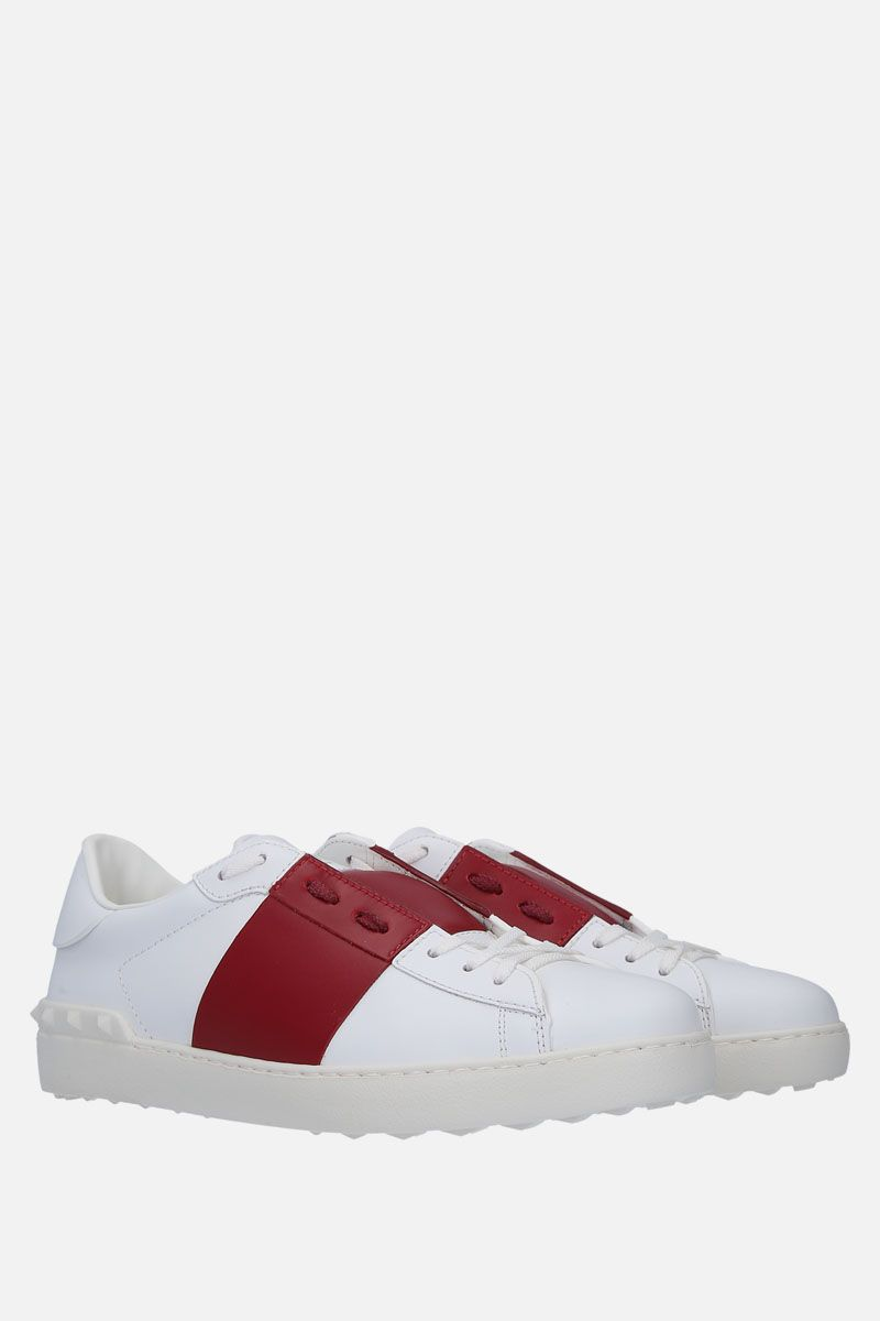 VALENTINO GARAVANI: Open sneakers in smooth leather Color White_2