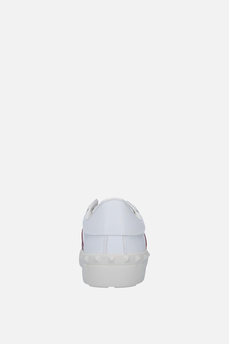 VALENTINO GARAVANI: Open sneakers in smooth leather Color White_3