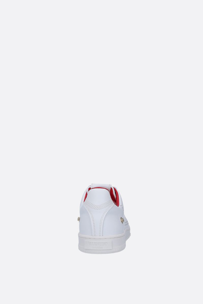 VALENTINO GARAVANI: Backnet sneakers in smooth leather Color White_4