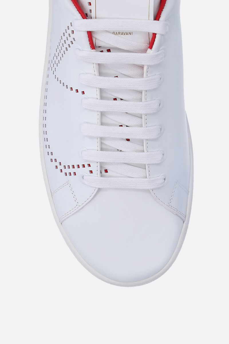 VALENTINO GARAVANI: Backnet sneakers in smooth leather Color White_5