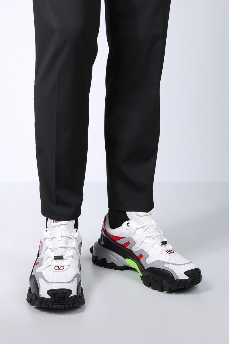 VALENTINO GARAVANI: Climbers sneakers in mesh and smooth leather_2