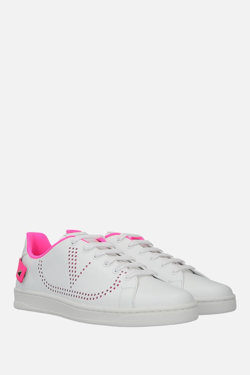 VALENTINO GARAVANI: Backnet smooth leather sneakers Color White_2