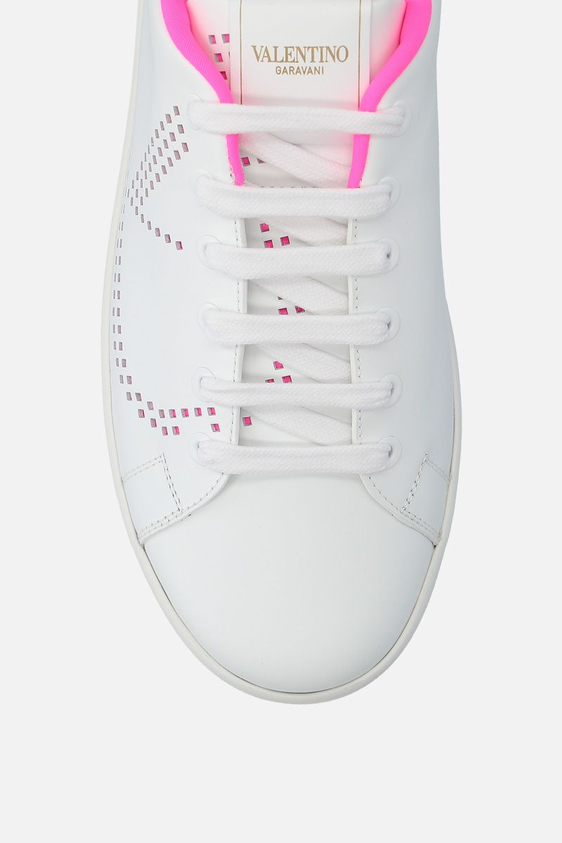 VALENTINO GARAVANI: Backnet smooth leather sneakers Color White_4