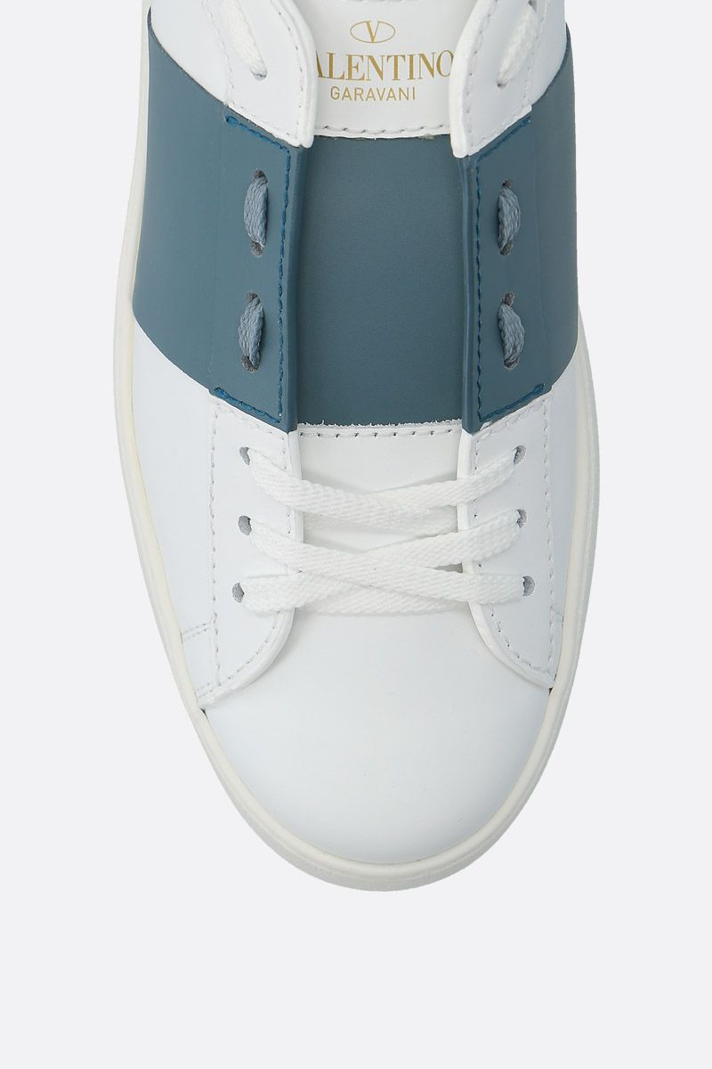 VALENTINO GARAVANI: Open sneakers in smooth leather_4