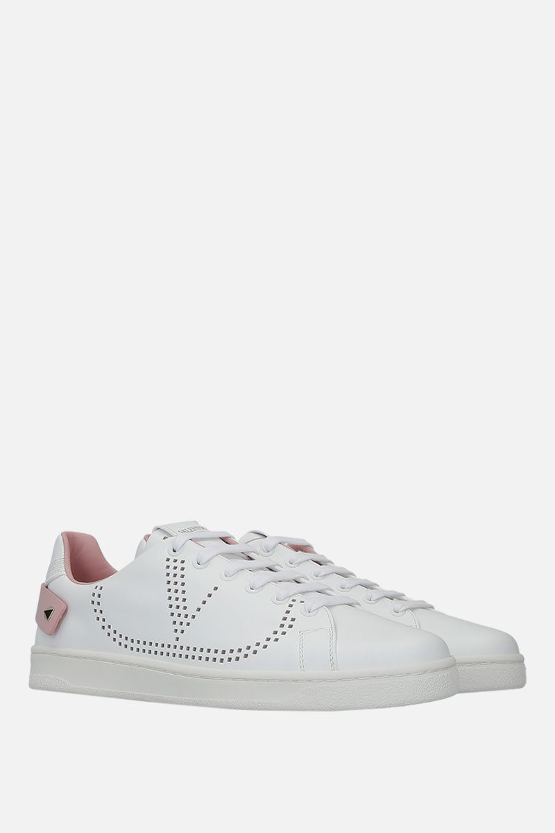 VALENTINO GARAVANI: Backnet sneakers in smooth leather Color Multicolor_2