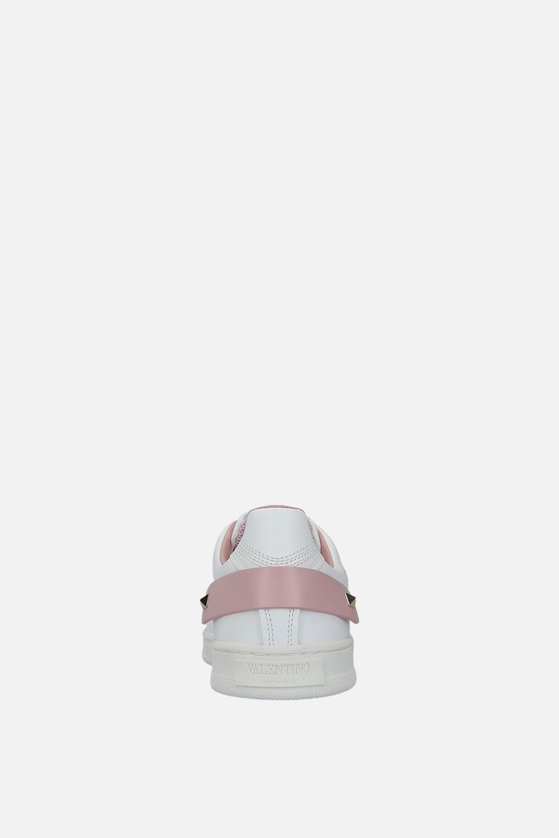 VALENTINO GARAVANI: Backnet sneakers in smooth leather Color White_3