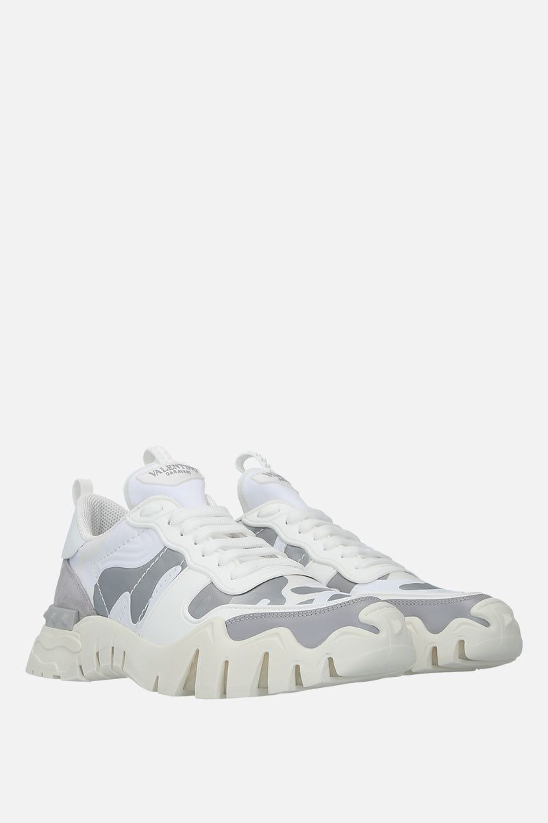 VALENTINO GARAVANI: Rockrunner Plus camouflage canvas sneakers Color Multicolor_2