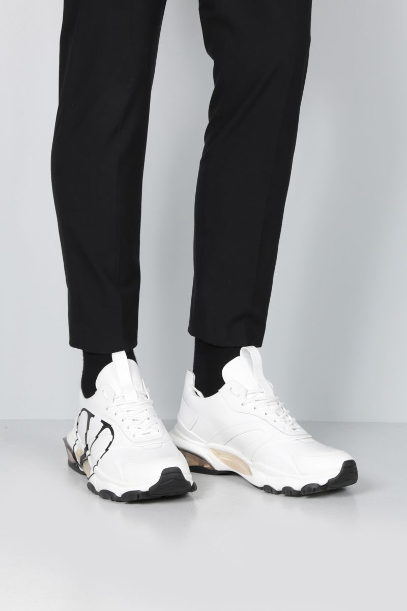VALENTINO GARAVANI: Bounce VLOGO sneakers in smooth leather Color White_2