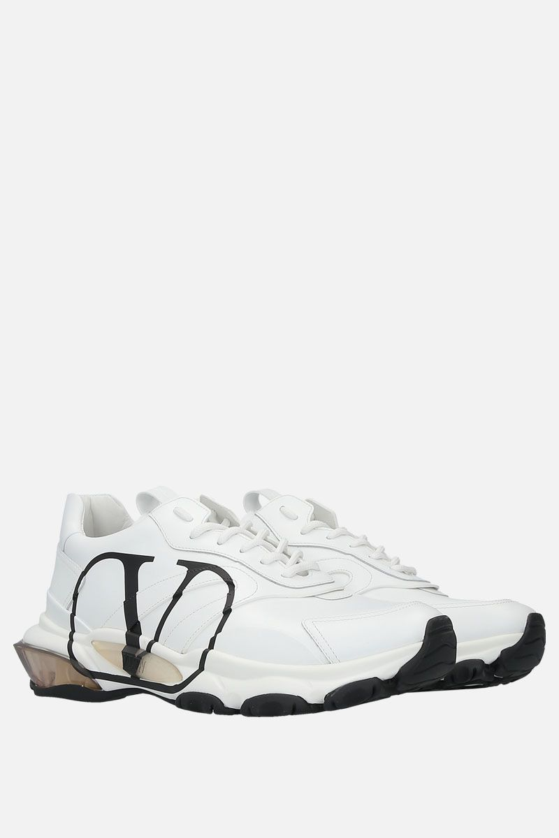 VALENTINO GARAVANI: Bounce VLOGO sneakers in smooth leather Color White_3