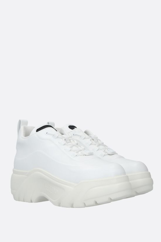 VALENTINO GARAVANI: smooth leather flatform sneakers Color White_2