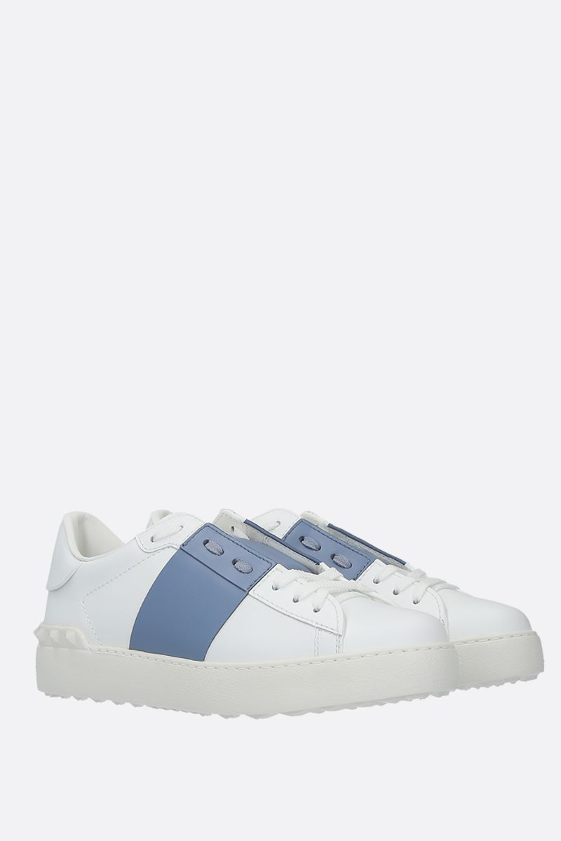 VALENTINO GARAVANI: Open smooth leather sneakers_2