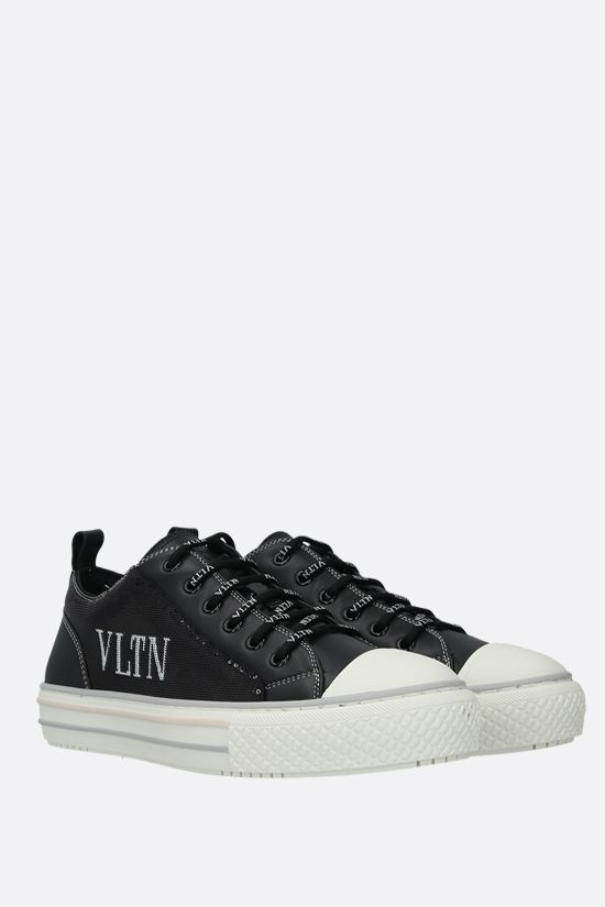 VALENTINO GARAVANI: Giggies VLTN smooth leather and sequins sneakers Color Black_2