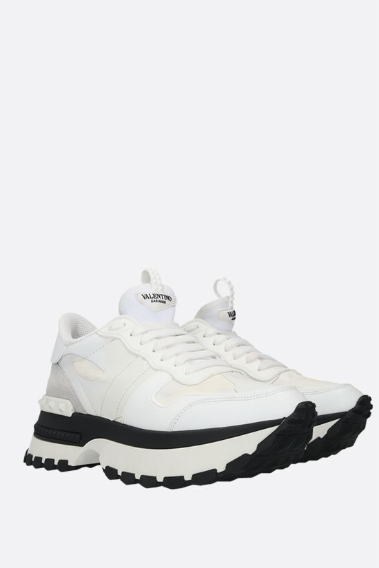 VALENTINO GARAVANI: Rockrunner Up camouflage sneakers in a mix of materials Color White_2