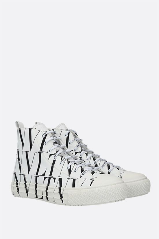 VALENTINO GARAVANI: Giggies VLTN nylon sneakers Color Grey_2