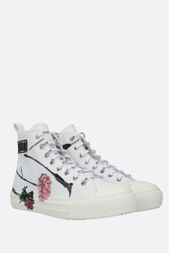 VALENTINO GARAVANI: sneaker high-top Giggies Flowersity in nylon Colore Multicolore_2