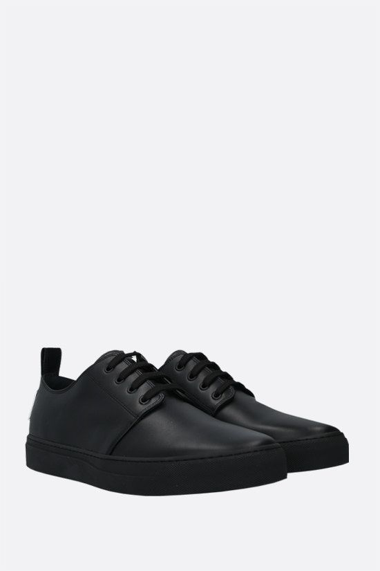 VALENTINO GARAVANI: VLTN tag smooth leather sneakers Color Black_2