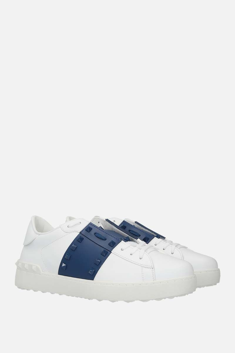 VALENTINO GARAVANI: Rockstud Untitled smooth leather sneakers_2