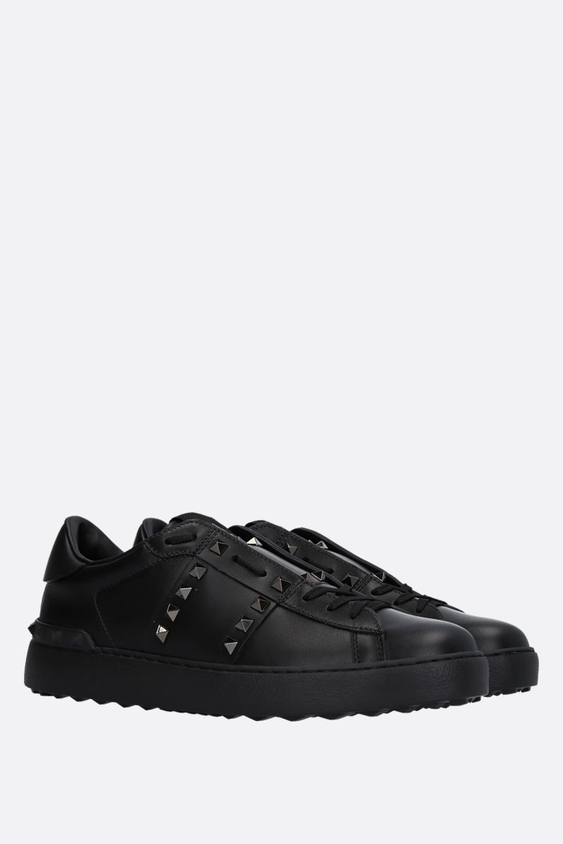 VALENTINO GARAVANI: Rockstud Untitled Noir smooth leather sneakers Color Black_2
