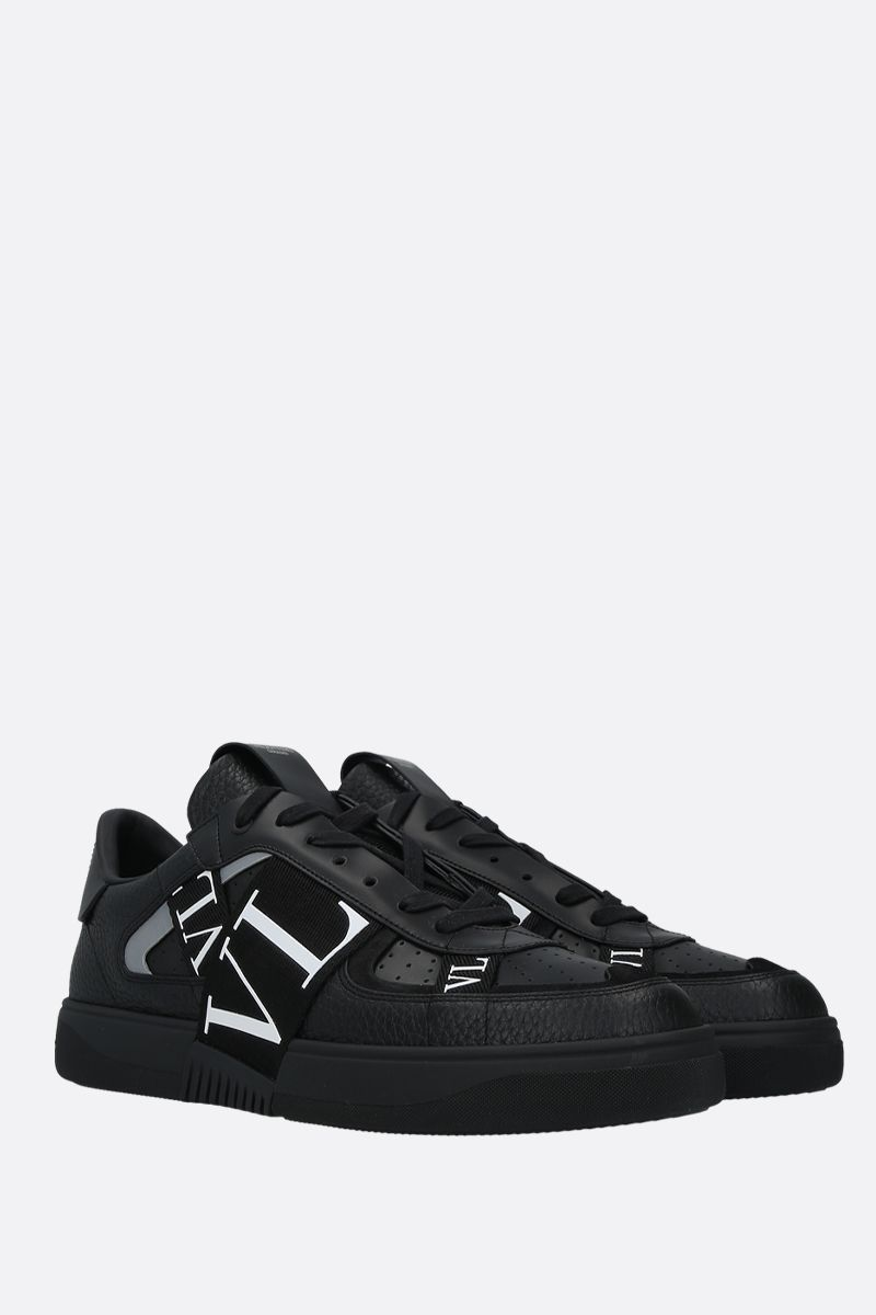 VALENTINO GARAVANI: VL7N grainy leather and tech fabric sneakers Color Black_2