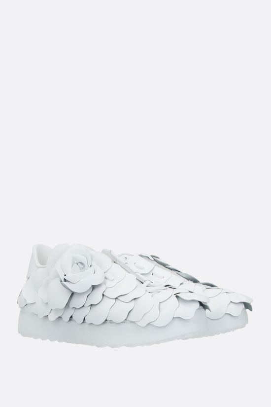 VALENTINO GARAVANI: Atelier Shoes 03 Rose Edition smooth leather sneakers Color White_2
