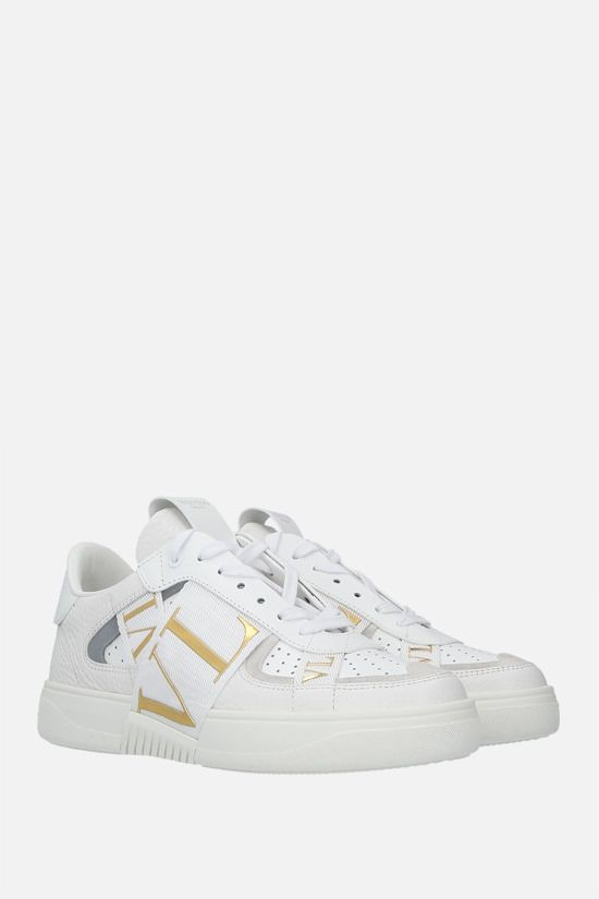 VALENTINO GARAVANI: VL7N grainy leather and tech fabric sneakers Color White_2