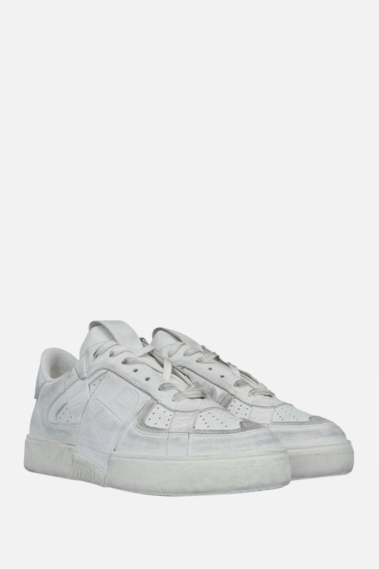 VALENTINO GARAVANI: VL7N smooth leather and fabric sneakers Color White_2