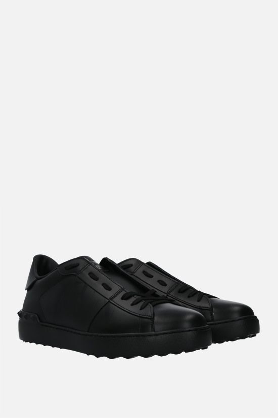 VALENTINO GARAVANI: Open VLTN smooth leather sneakers Color Black_2